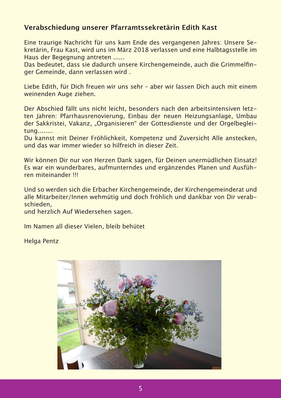 Gemeindebrief : Evangelische Kirchengemeinde Erbach